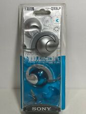 Vintage SONY Stereo Blue/Silver Headphones MDR-Q33LP NOS Interchangable Caps
