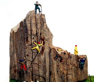 6 Rock Climbers People A104 UNPAINTED N Gauge Scale Langley Models Kit Figures