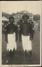 Fiji Flores Island Policemen Police Officers Cops 1936 USED RPPC Postcard dcn