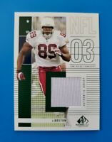 2003 SP Game-Used #154 DAVID BOSTON (Chargers) Jersey (MINT) L@@K *FREE SHIP*
