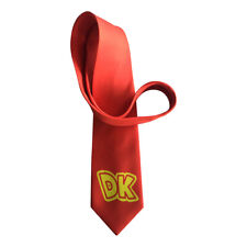 DK Red Necktie Donkey Kong Adult Neck Tie Costume Cosplay Gamer Video Game Gift