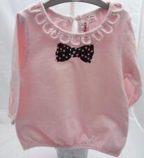 Gumboots Tee-shirt rose manche longue motif noeud noir bébé fille 12 mois