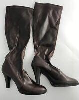 FRANCO SARTO Brown Knee High Boots Women's Size 8 High Heel