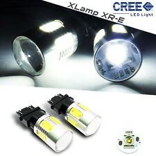 2x CREE XR-E LED 3156 3157 Projector Back Up Reverse Light White Bulb For Ford
