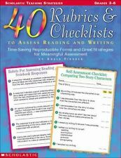 40 Rubrics & Checklists to Assess Reading and Writing Grades 3-6