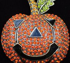 Heidi Daus REPLICA Halloween Jack Lantern Smashing Pumpkin Pin Brooch Jewelry 3""