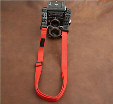 Cotton/Leather Neck/Shouder Camera Strap Adjustable for Rolleiflex Red 2.8F