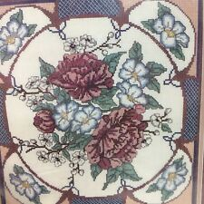 "Vintage Golden Bee Counted Cross Stitch Kit Oriental Peonies 12"" x 12"""