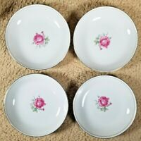 "Imperial Rose Fine China Set of Two 7.5"" Soup Bowls Japan 6702 Max Schonfeld"
