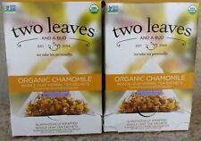 2 x Two Leaves and a Bud~Organic Chamomile Herbal Tea~15 Whole Leaf Sachets Each