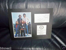 THE BEATLES TITTENHURST PARK MOUNTED PICTURE AND FACSIMILE AUTOGRAPH LTD EDITION