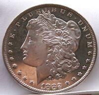 1882 CC MORGAN SILVER DOLLAR GEM PL