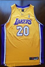 Los Angeles Lakers Gary Payton NIKE Authentic SZ 52 Vintage Jersey On Court  NBA 1eca5aa8a