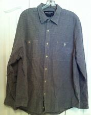 Abercrombie Fitch Mens Shirt L Button-Front Long Sleeve 100% Cotton Blue Check