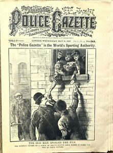 Orig 1897 Police Gazette Sporting Newspaper, boxing, Marie Lloyd, horse racing