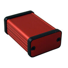 Aluminio instrumento Gabinete Rojo Hammond 1455 60x45x25mm Rojo proyecto Funda Caja