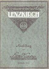 Katalognachdruck Lenzkirch Nachtrag zum Hilfs-Katalog Frühjahr 1922