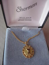 18 KT GOLD OVERLAY ON STERLING SILVER CHARM COMMUNION CUP JHS BY Sherman