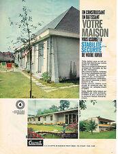 PUBLICITE ADVERTISING   1961   ETERNIT   plaques toiture en fibro-ciment