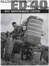 Allis Chalmers ED-40 Tractors ED40 Sales Brochure Manual