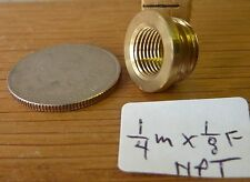 """Lamp thread adapter shoulder reducer 1/4"""" npt male to 1/8"""" npt female (per each)"""