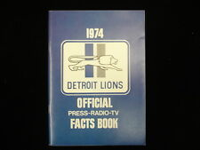 1974 Detroit Lions NFL Media Guide