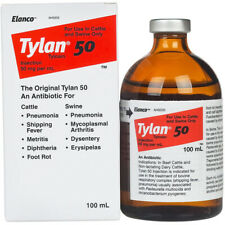 Tylan 50 100ml Antibiotic for Beef Cattle Dairy Cattle Swine Elanco