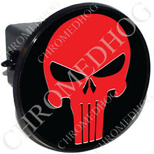"2"" Tow Hitch Receiver Cover Plug Insert Most Truck & SUV - Red Punisher Skull B"