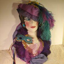 Beautiful Clay Art Ceramic Fancy Lady Wall Hanging Decorative Mask