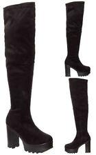 Suede Upper Clubwear Block Heels for Women