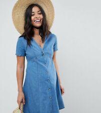 ASOS denim tea dress in midwash blue UK Size 8