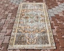 3.5x6 ft. Vintage Turkish Oushak Tribal Hand Knotted Antique Carpet Handmade Rug