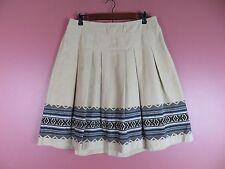 SK09548- ANN TAYLOR LOFT Woman 100% Cotton Corduroy Pleated Skirt Multi-Color 8