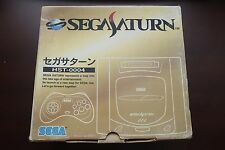 Sega Saturn Gray Console good condition boxed Japan SS system US Seller