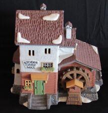 ~Vintage Dept 56 Christmas Alpine Village Stoder Grist Mill Original 1988~