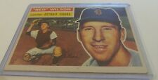 1956 TOPPS # 92 RED WILSON EX CONDITION VINTAGE Baseball Card Detroit Tigers