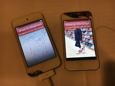 lot of 2 Apple ipod touch for parts disabled