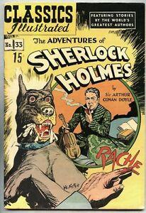 Classics Illustrated #33-1950 fn+ 3rd edition Sherlock Holmes HRN 71