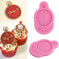 Clock Silicone Fondant Chocolate Cake Decorating Cupcake Sugarcraft Mould Tools