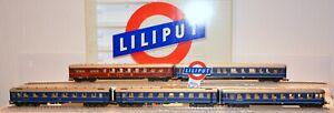 aNL: Liliput : Personenwagenset 5tlg Schnellzugwagen - ArtNr 853 - OVP, LESEN!