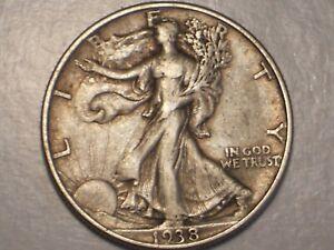 1938 Walking Liberty Half Dollar (Abt. XF & Attractive)