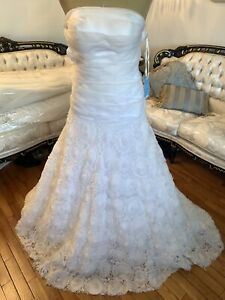 #291 Sophie Chang Couture Wedding Gown NWT Sz 8 Exquisite Detail!