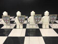 Lego  Knight Minifigure Shield x 4 With St. George Cross & Helmet Pattern
