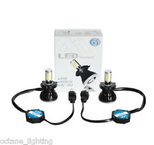 H4 CREE HID SMD COB LED Low/Hi Beam Headlight Light Bulb 6000K 4000LM PAIR 5-3/4