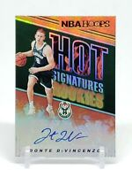 2018-19 Hoops Donte DiVincenzo RC Auto, Hot Signatures Rookies, Bucks