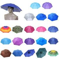 Foldable Umbrella Hat Cap Headwear Folding Parasol Umbrella Fishing Hiking Beach