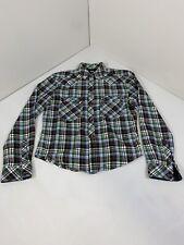 D&G Dolce And Gabanna BRAD Plaid Flannel Shirt Mens 16