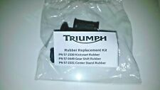TRIUMPH LOGO Kick start Gear Shift Center Stand RUBBER SET