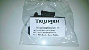 TRIUMPH LOGO Kick start Gear Shift Center Stand RUBBER SET