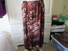 Ladies KIM & CO Brazil Knit Stretch Russet Multi Skirt Size Large 14-16 BNWOT